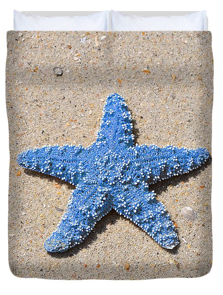 Sea Star - Light Blue Duvet Cover by Al Powell Photography USA
