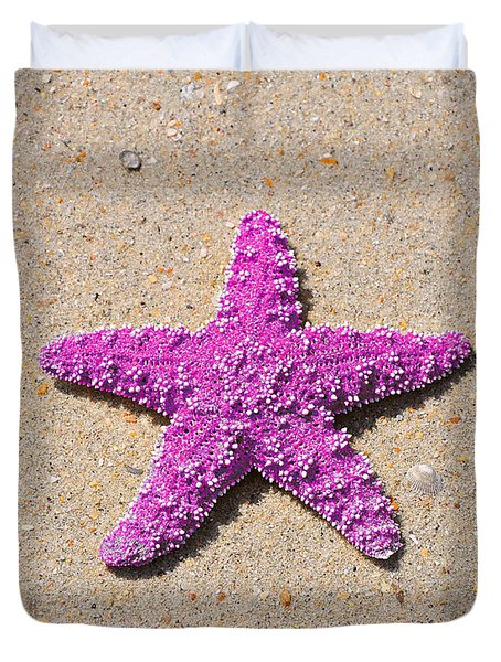 Sea Star - Pink Duvet Cover by Al Powell Photography USA