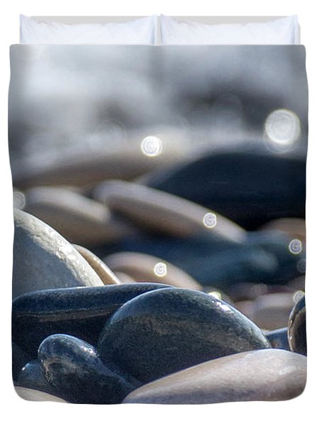 Sea Stones  Duvet Cover by Stylianos Kleanthous