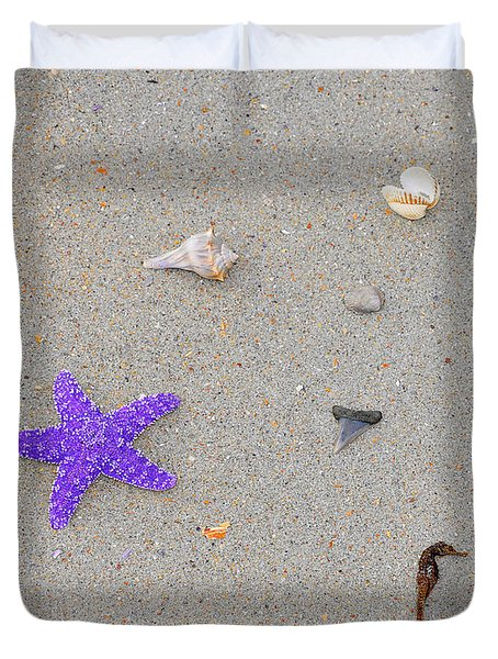 Sea Swag - Purple Duvet Cover by Al Powell Photography USA