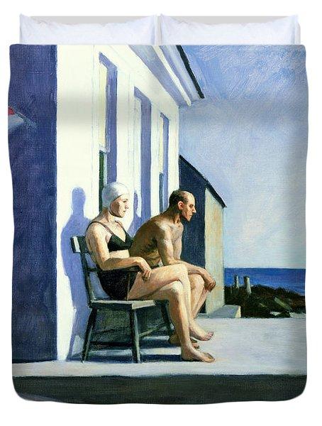 Sea Watchers Duvet Cover by Edward Hopper