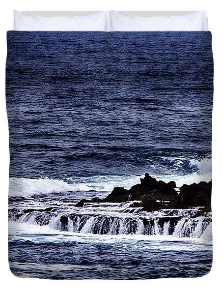 Sea Waterfall Duvet Cover by Douglas Barnard