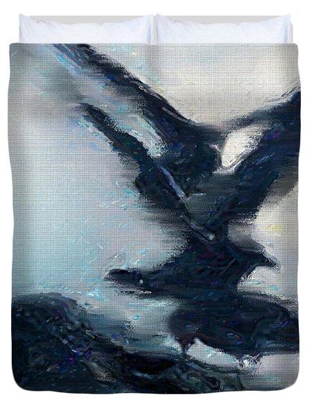 Seagull Grace Duvet Cover by Betty LaRue