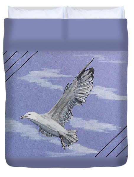 Seagull Duvet Cover by Susan Turner Soulis