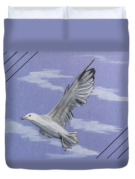 Seagull Duvet Cover by Susan Turner