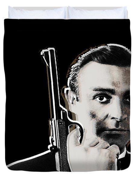Sean Connery James Bond Vertical Duvet Cover by Tony Rubino