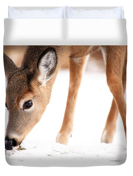 Searching Duvet Cover by Karol Livote