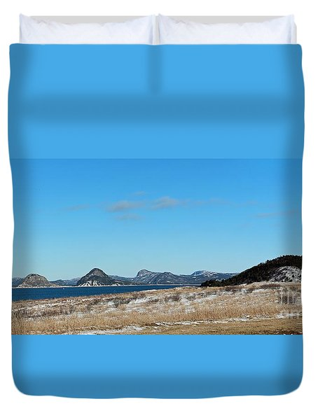 Seascape - Panorama Duvet Cover by Barbara Griffin