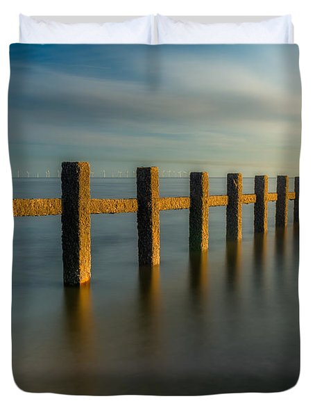 Seascape Wales Duvet Cover by Adrian Evans