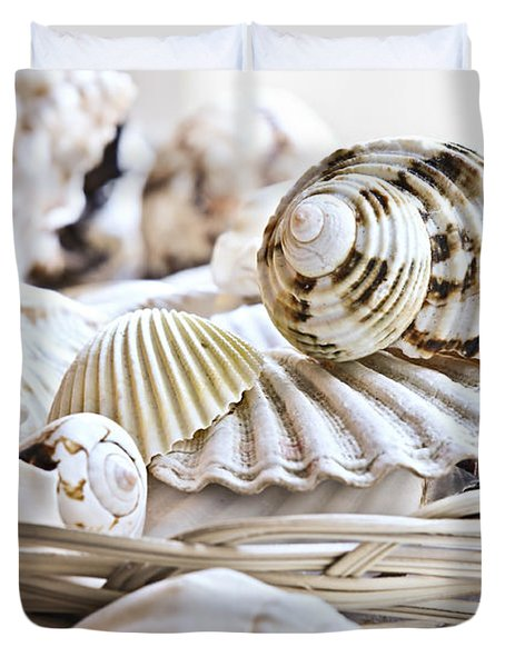 Seashells Duvet Cover by Elena Elisseeva