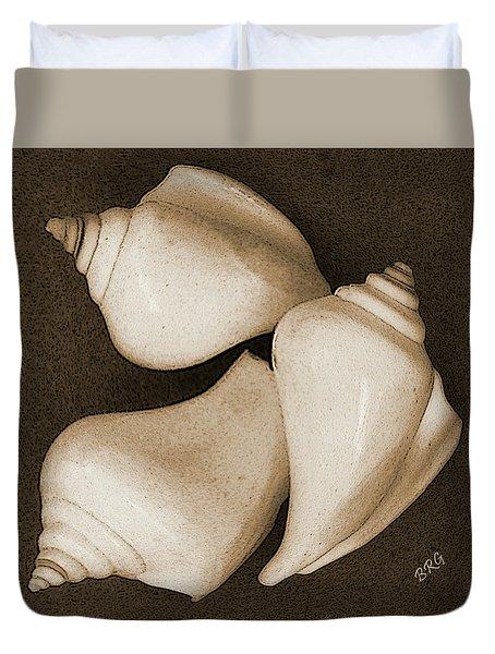 Seashells Spectacular No 4 Duvet Cover by Ben and Raisa Gertsberg