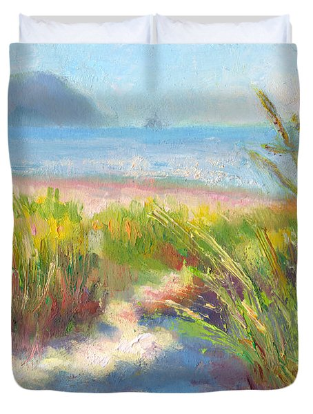 Seaside Afternoon Duvet Cover by Talya Johnson