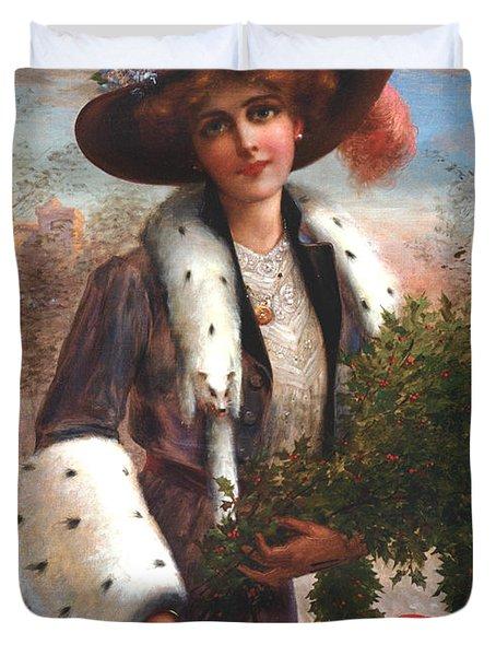 Seasons Greetings Duvet Cover by Emile Vernon