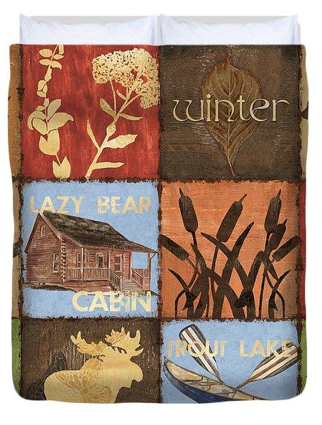 Seasons Lodge Duvet Cover by Debbie DeWitt