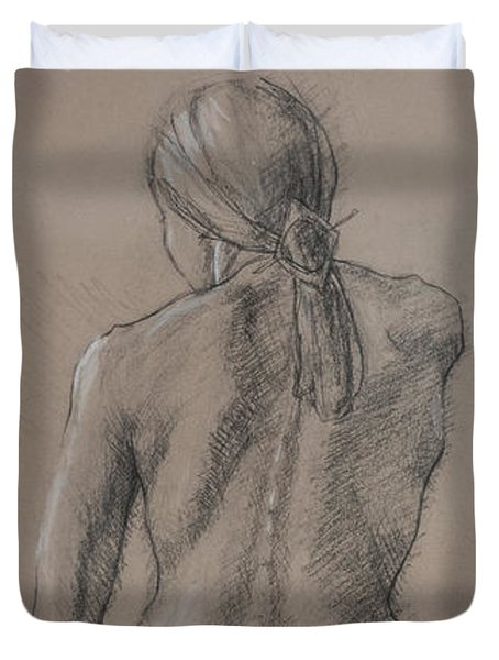 Seated Figure Duvet Cover by Sarah Parks