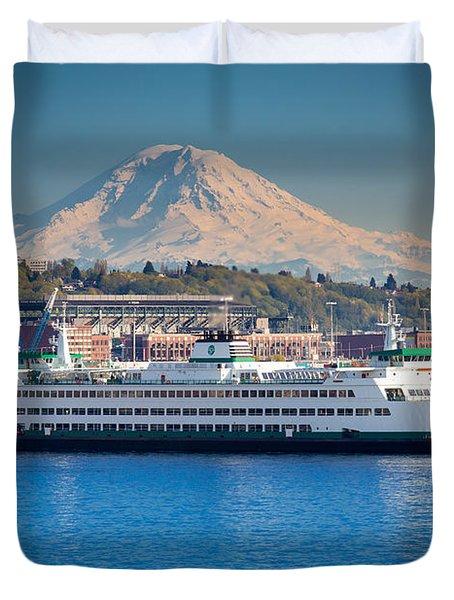 Seattle Harbor Duvet Cover by Inge Johnsson
