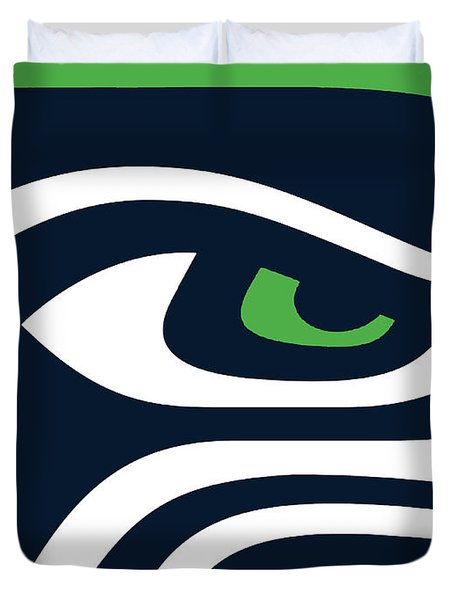 Seattle Seahawks Duvet Cover by Tony Rubino