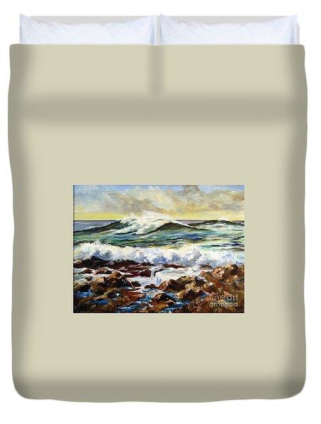 Seawall Duvet Cover by Lee Piper