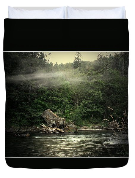 Seclusion On The Trinity Duvet Cover by Joyce Dickens