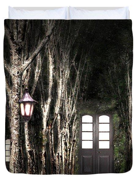Secret Forest Dwelling Duvet Cover by Nirdesha Munasinghe