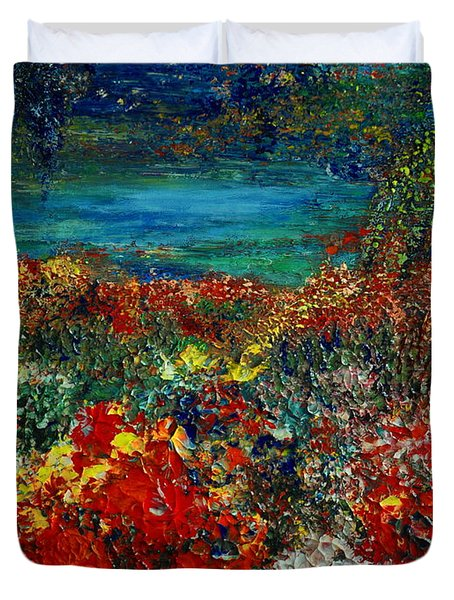 SECRET GARDEN Duvet Cover by TERESA WEGRZYN