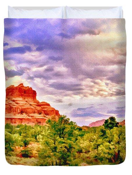 Sedona Arizona Bell Rock Vortex Duvet Cover by Bob and Nadine Johnston