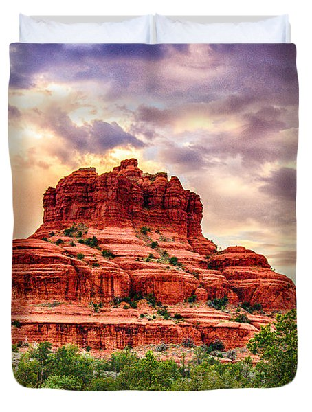 Sedona Bell Rock Vortex In Spring Duvet Cover by Bob and Nadine Johnston