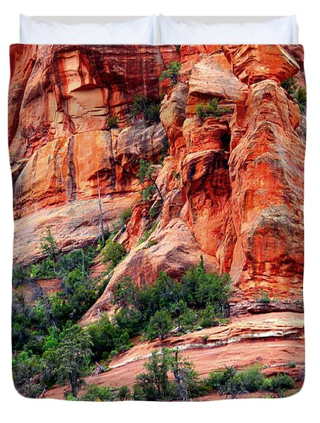 Sedona Perspective Duvet Cover by Carol Groenen