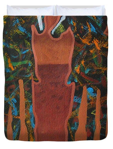 Sedona Sundown Duvet Cover by Lance Headlee
