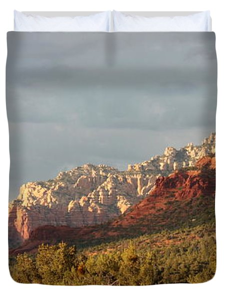 Sedona Sunshine Panorama Duvet Cover by Carol Groenen