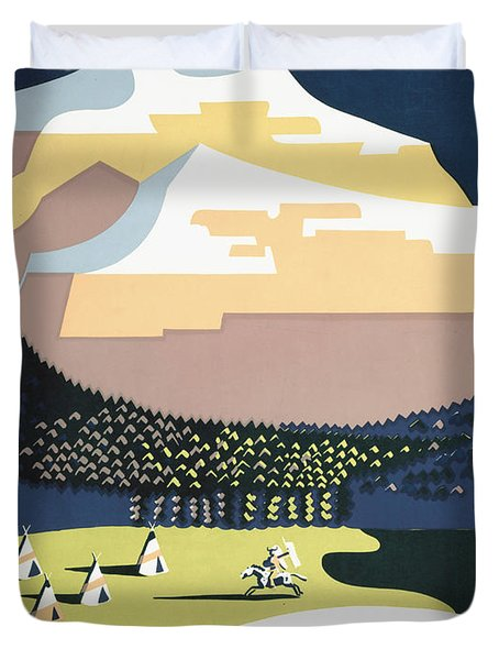 See America - Montana Duvet Cover by Nomad Art And  Design