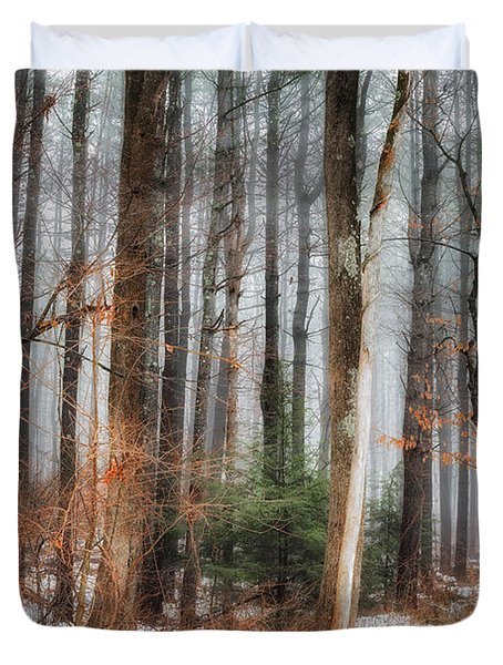 Seeing The Trees Thru The Forest Duvet Cover by Bill  Wakeley
