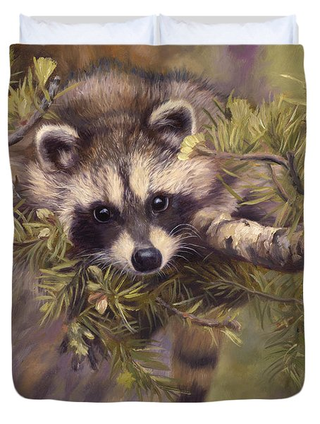 Seeking Mischief Duvet Cover by Lucie Bilodeau