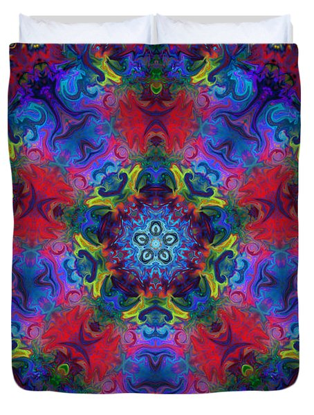 Seeking The Source Duvet Cover by Peggy Collins