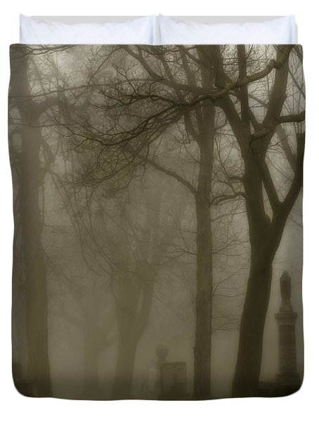 Seeped In Fog Duvet Cover by Gothicolors Donna Snyder