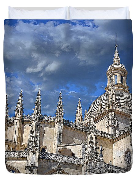 Segovia Gothic Cathedral Duvet Cover by Ivy Ho