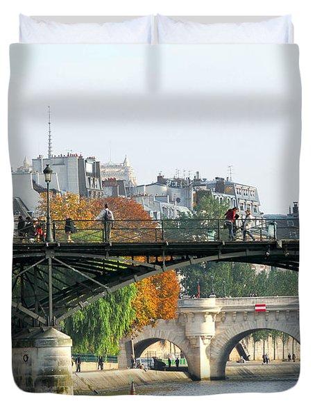 Seine bridges in Paris Duvet Cover by Elena Elisseeva