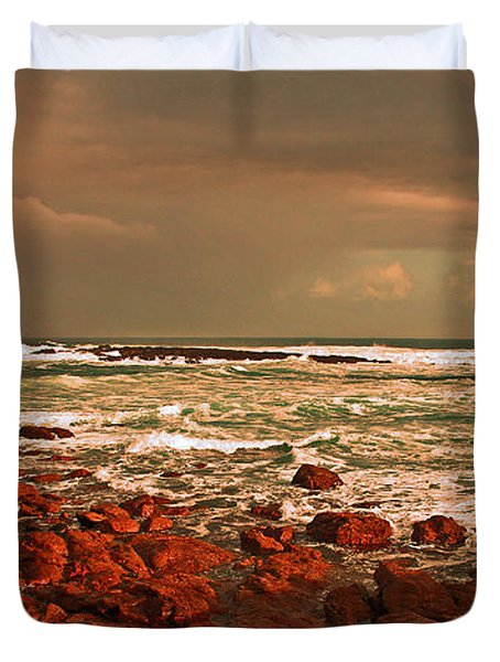 Sennen storm Duvet Cover by Linsey Williams