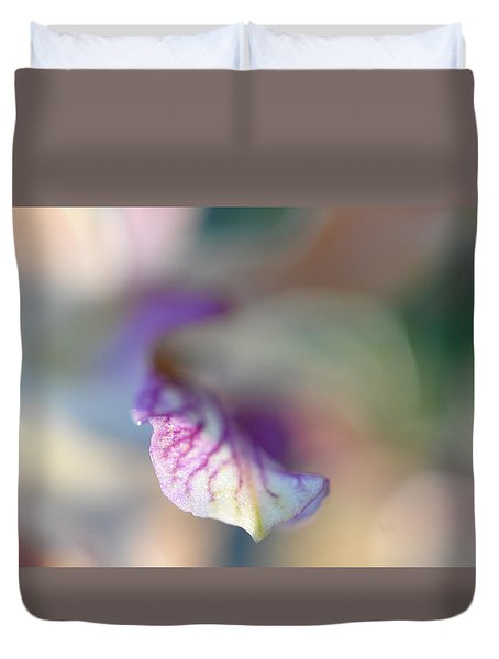 Sensual Touch Of Exotic. Orchid I Duvet Cover by Jenny Rainbow