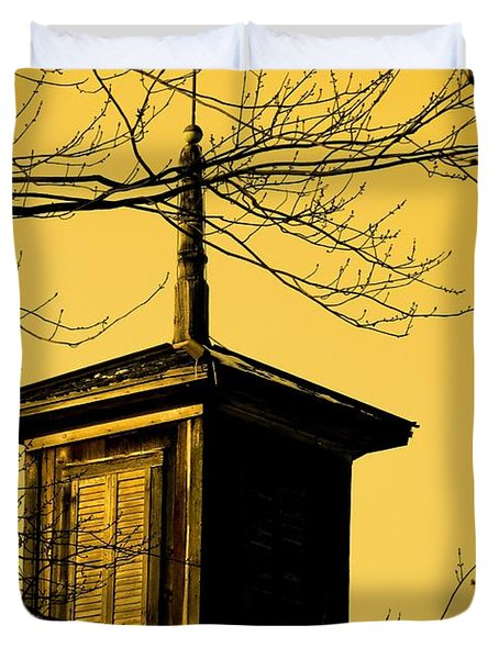 Sepiatone Cupola Duvet Cover by Debbie Finley