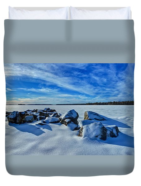 Serenity in Snow Duvet Cover by Bill Caldwell -        ABeautifulSky Photography