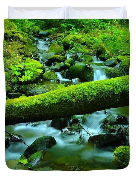 Serenity On The Rocks Duvet Cover by Jeff Swan