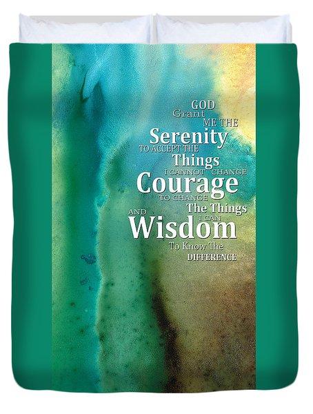 Serenity Prayer 2 - By Sharon Cummings Duvet Cover by Sharon Cummings