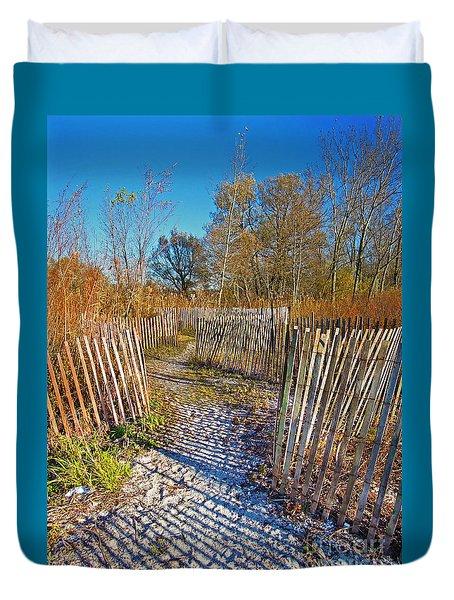 Serenity Trail.... Duvet Cover by Nina Stavlund