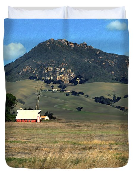 Serenity under Bishops Peak Duvet Cover by Kurt Van Wagner