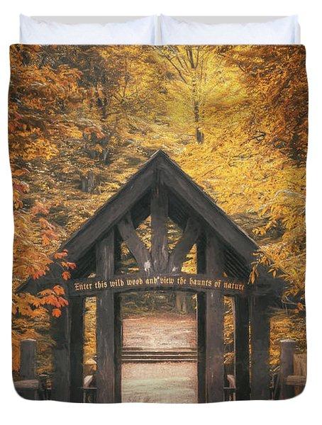 Seven Bridges Trail Head Duvet Cover by Scott Norris