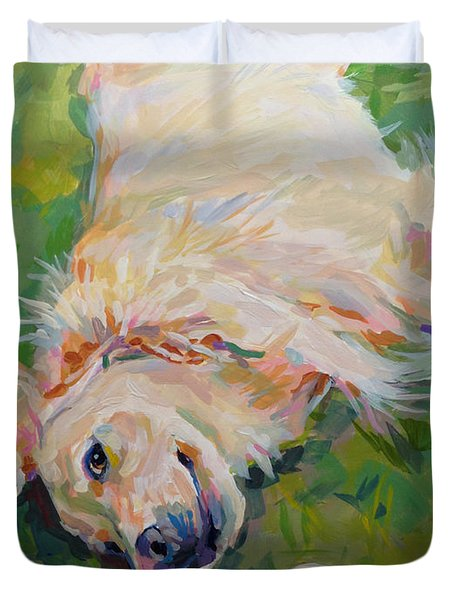 Seventh Inning Stretch Duvet Cover by Kimberly Santini