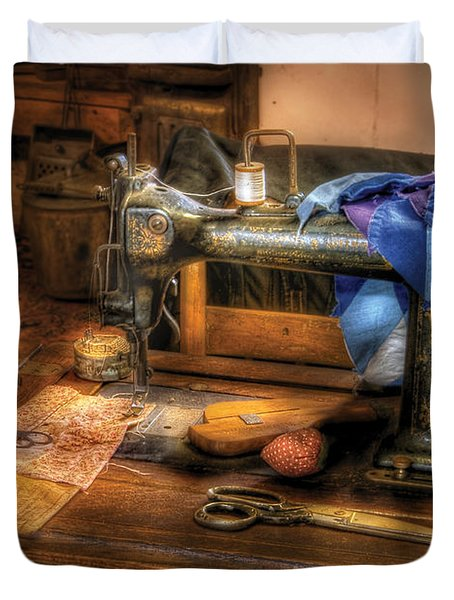 Sewing Machine  - Sewing Machine III Duvet Cover by Mike Savad