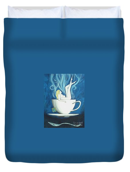 Sexy Oolong Duvet Cover by John Lyes