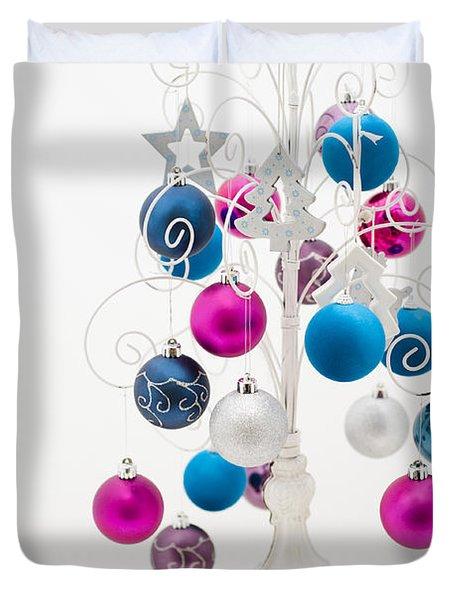 Shabby Chic Christmas Duvet Cover by Anne Gilbert